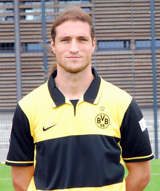 Diego Klimowicz, padre de Mateo, durante su etapa en el Borussia Dortmund.