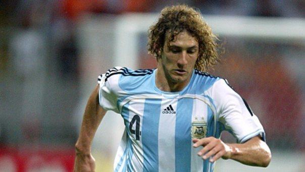 Coloccini en la Selección Argentina.