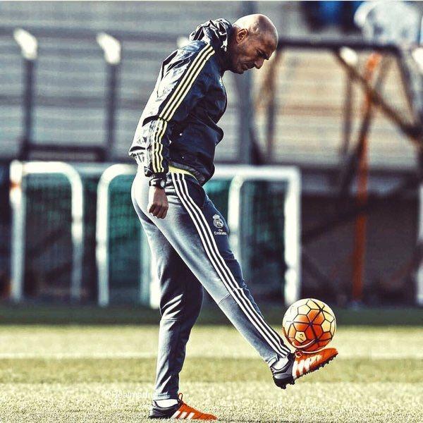 Zinedine Zidane, en un entrenamiento