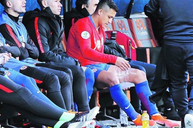 Alexis Sánchez, con su selección