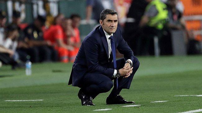 Ernesto Valverde, con el Barça