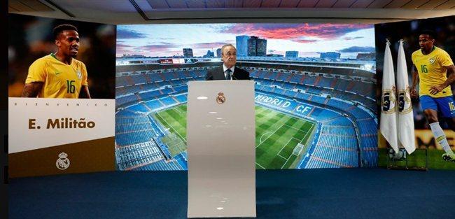 Florentino Pérez, en un acto con el Madrid