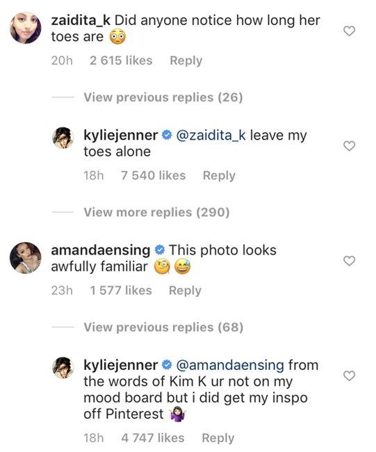 Respuesta de Kylie Jenner