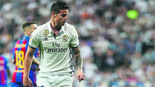 James Rodríguez, con el Madrid