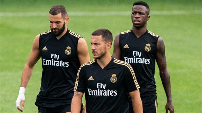 Hazard, con el Madrid