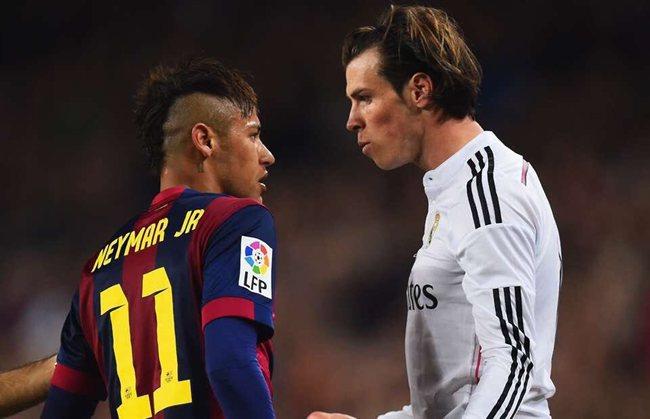 Neymar y Bale, en un derbi