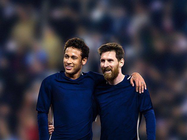 Neymar y Messi en el Barça