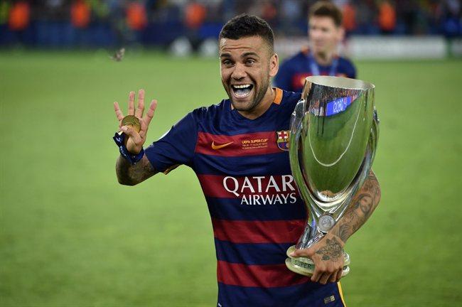 Dani Alves, con el Barça