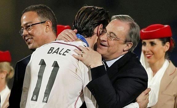 Bale y Florentino Pérez, en una celebración