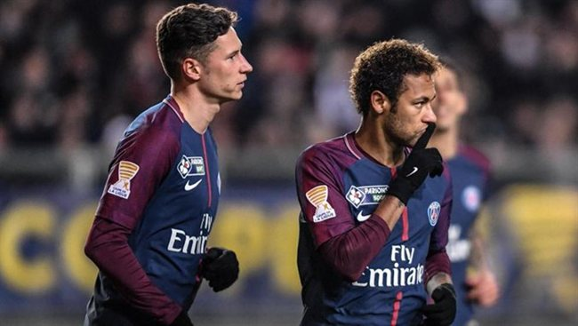 Draxler y Neymar