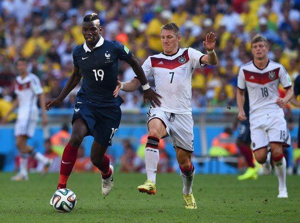 Pogba y el alemán, en el Mundial