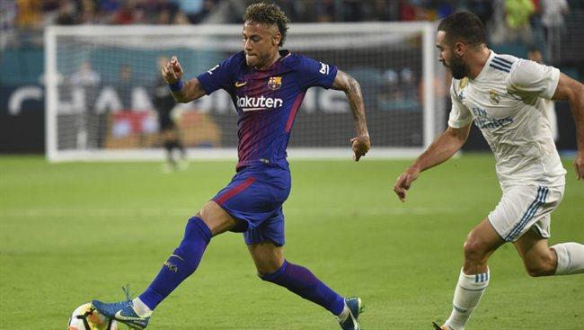 Neymar con el Barça