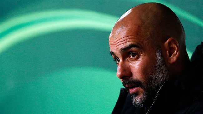 Pep Guardiola, con el City