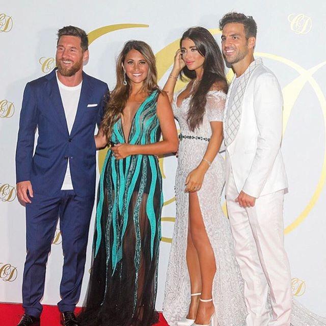 Antonella Roccuzzo, Messi y Cesc y Daniella