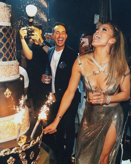 Jennifer López, en una fiesta
