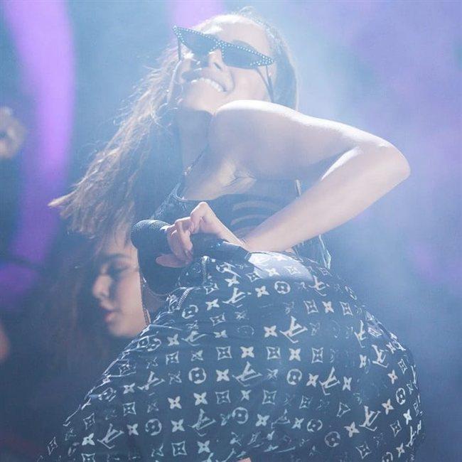 Anitta, durante el concierto de Los Ángeles