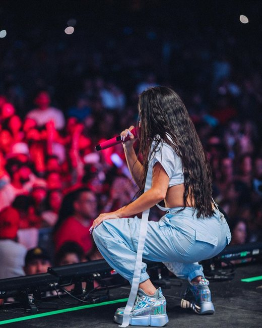 Natti Natasha, en un concierto