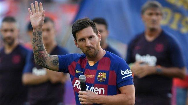 Leo Messi, en la presentación del Barça