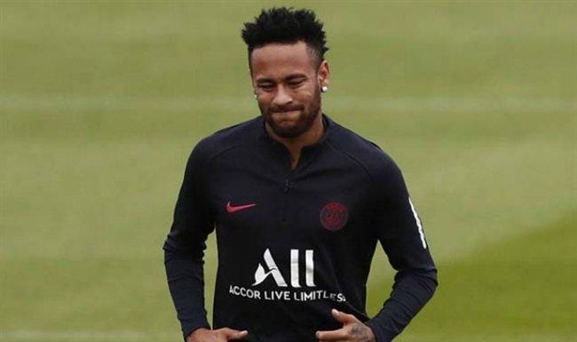 Neymar, entrenando con el PSG