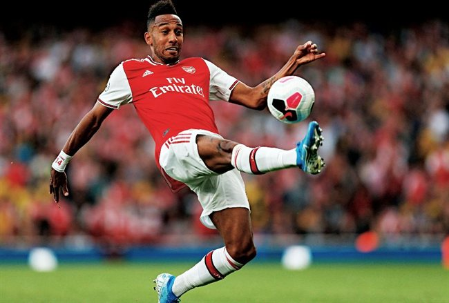 Pierre Emery Aubameyang, con el Arsenal