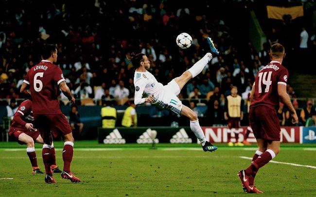 Bale, en la final ante el Liverpool