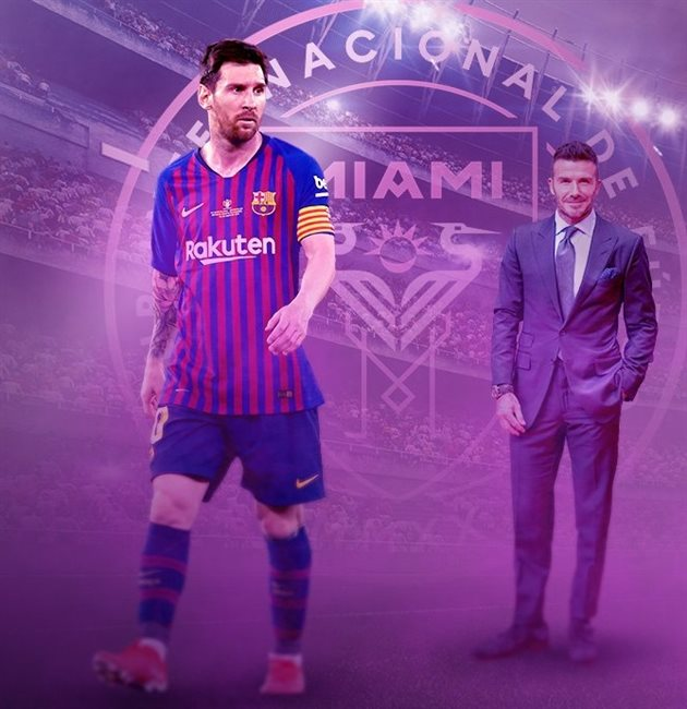 Leo Messi y David Beckham
