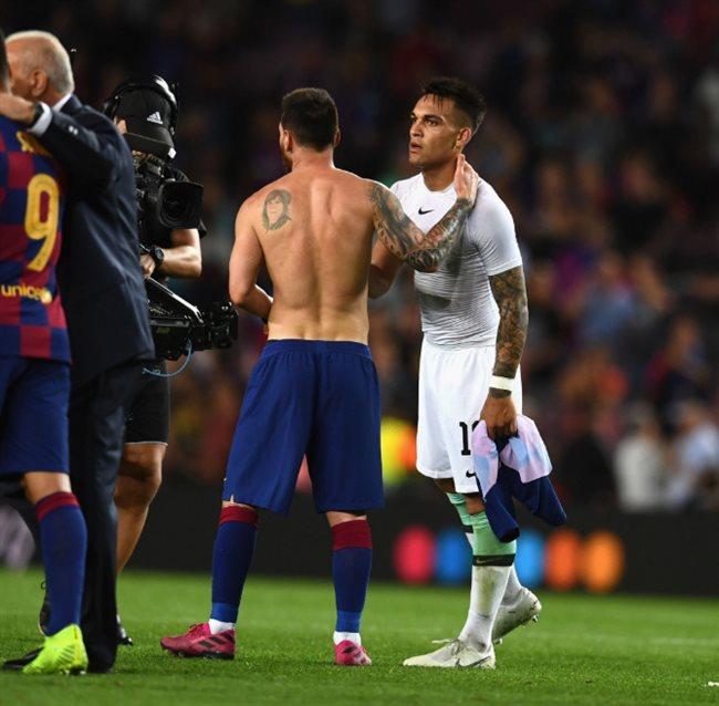 Messi y Lautaro