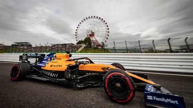 Carlos Sainz en los libres del viernes en Japón