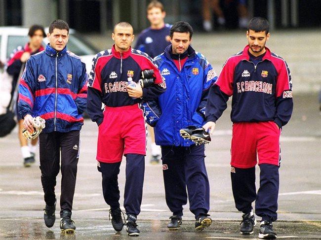 Guardiola y Mourinho cuando coincidieron en Barcelona