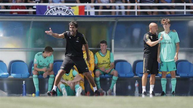 Raul entrenando al Castilla