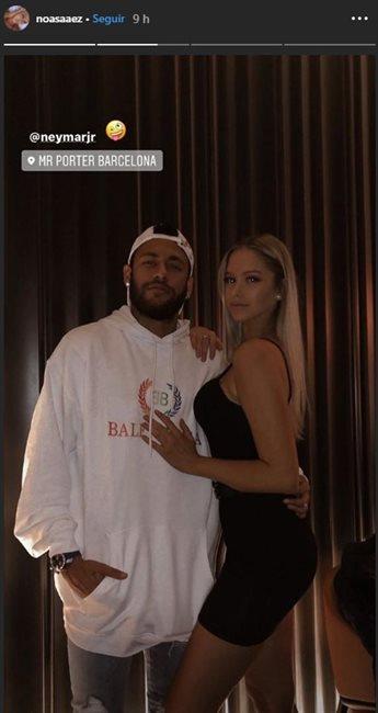 Neymar y Noa Sáez