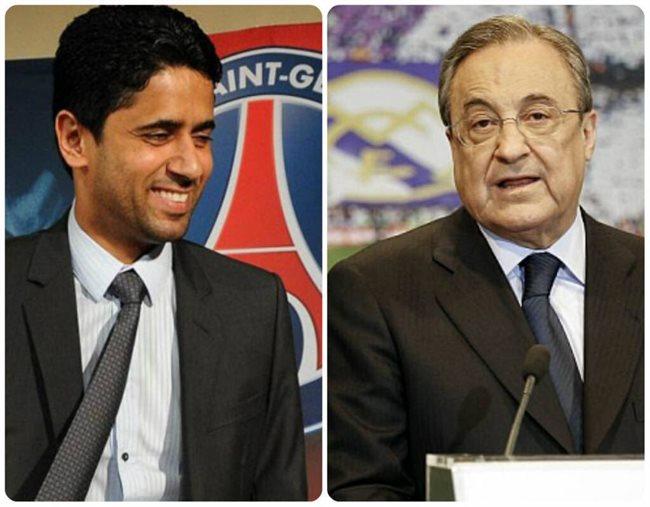 Al Khelaifi y Florentino Pérez