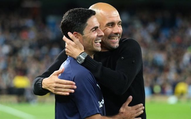 Arteta y Guardiola