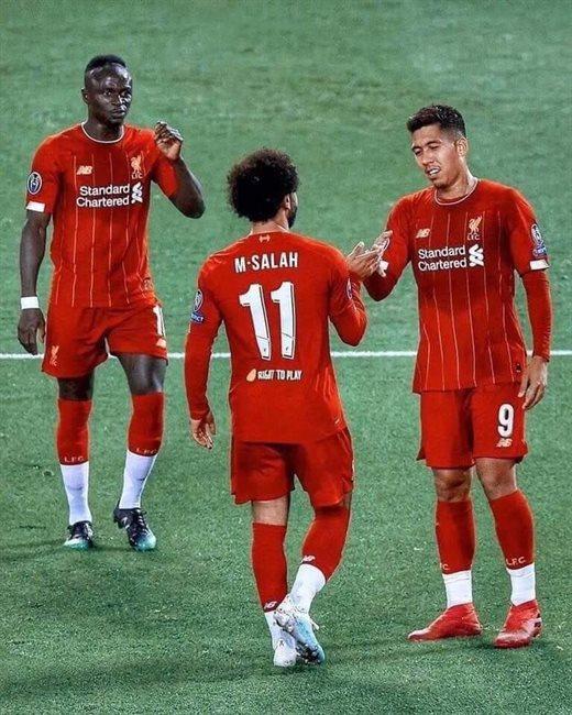 Mané, Salah y Firmino