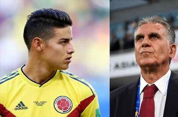 El consejo de Carlos Queiroz a James Rodríguez que lo aleja del Real Madrid