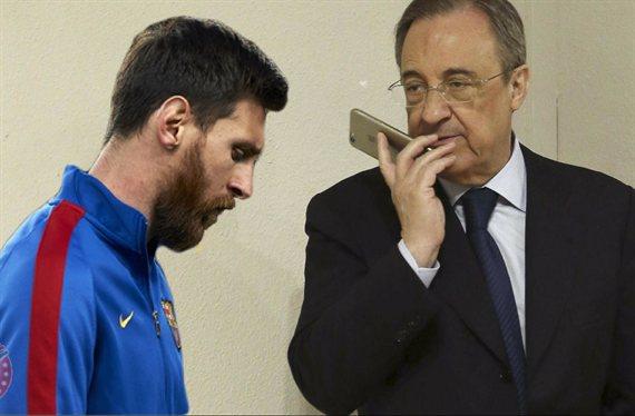 Quiere vengarse de Messi: el agente (y de un galáctico) que llama a Florentino Pérez