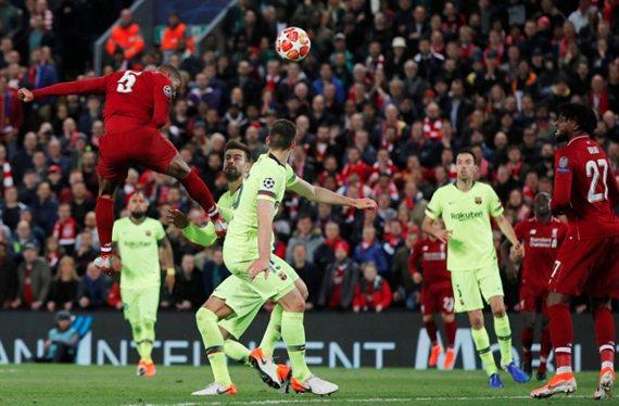 Messi lía la de Dios: a tortas al final del Liverpool-Barça