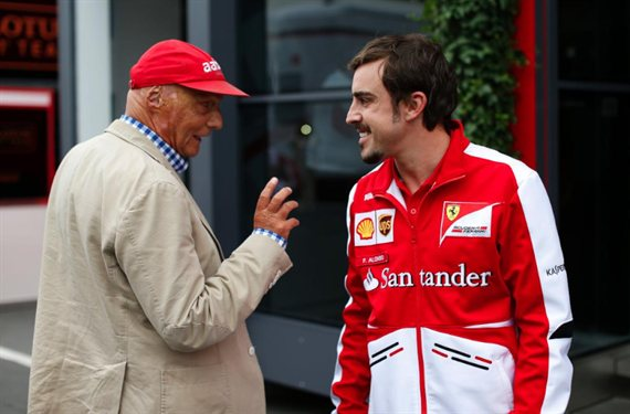 El tweet de Fernando Alonso por la muerte de Niki Lauda