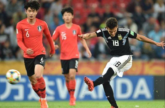 La Argentina Sub 20 cayó ante Corea del Sur y enfrentará a Mali en octavos