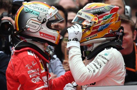 La voluntaria infracción de Vettel contra Hamilton