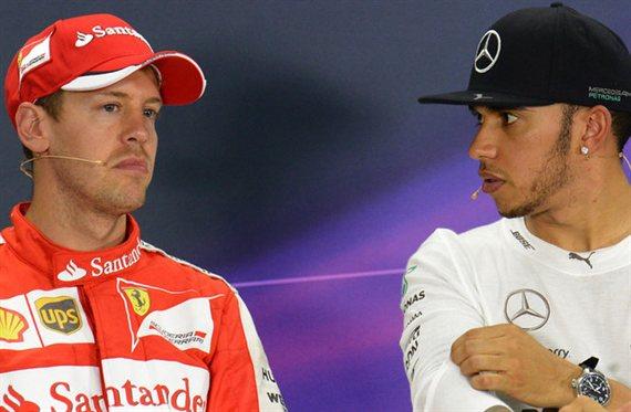 El polémico gesto de Vettel contra Hamilton