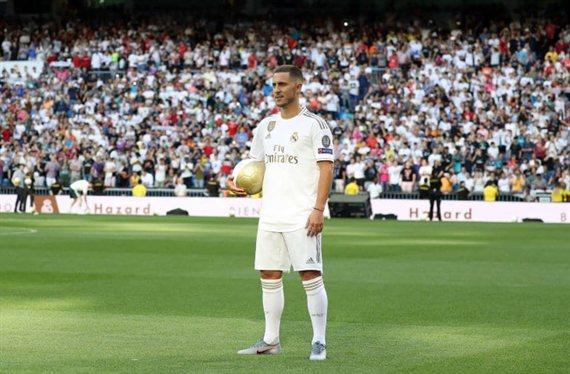 La presentación de Hazard fue la segunda más multitudinaria del Real Madrid