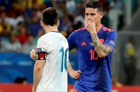 La charla de James Rodríguez con un crack de Argentina que Messi paró