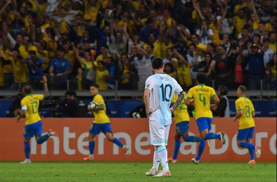 Fin del sueño: Argentina cayó con Brasil y fue eliminada de la Copa América