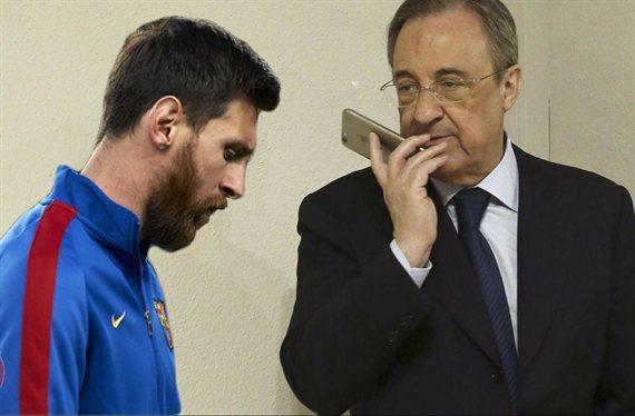 Messi quiere vengarse de Florentino Pérez fichando a un jugador del Madrid