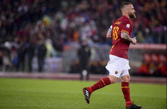 El rendimiento de Daniele De Rossi en su último partido con la Roma