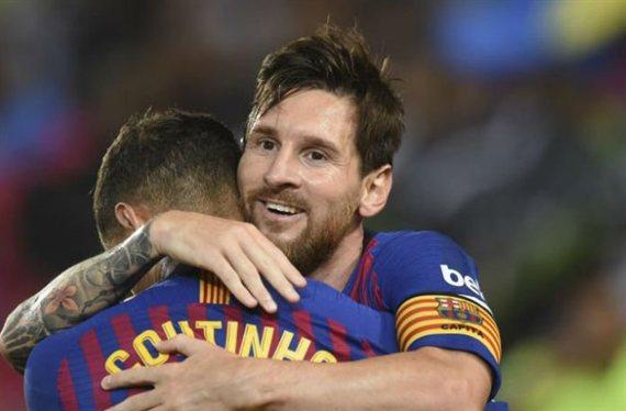 Messi no puede parar de reír.No ha debutado y ya hay criticas a Coutinho