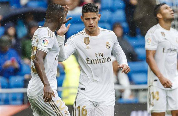 Zidane sorprende: James Rodríguez ha sido el mejor. Lucas Vázquez, fuera