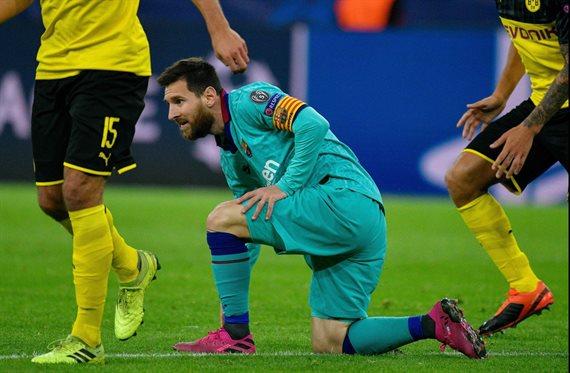 Con el regreso de Lionel Messi, Barcelona igualó 0-0 con Borussia Dortmund