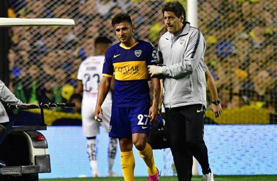 Salvio se resintió de la lesión y se perdería la semifinal de ida con River